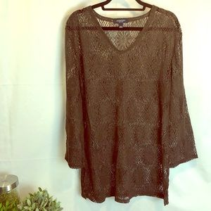 Sonoma Polyester & Cotton Sheer Lace Swim Cover Up